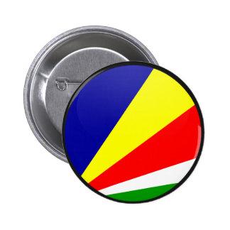 Seychelles quality Flag Circle Pinback Button