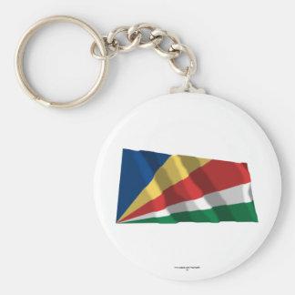Seychelles que agitan la bandera llavero