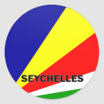 Seychelles Roundel quality Flag Stickers
