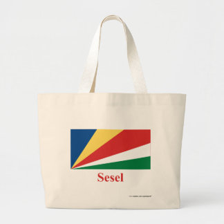 Seychelles señalan por medio de una bandera con no bolsa lienzo