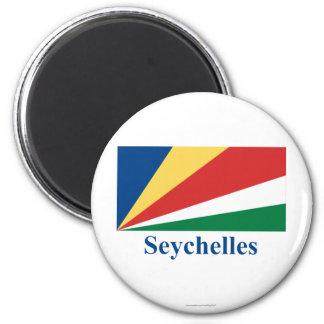 Seychelles señalan por medio de una bandera con no imán redondo 5 cm