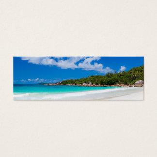 Seychelles. Stone's coastline Mini Business Card