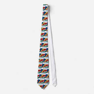 Seychelles Waving Flag with Name Neck Tie