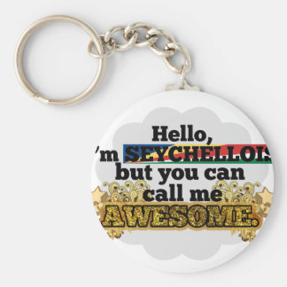 Seychellois, but call me Awesome Basic Round Button Keychain