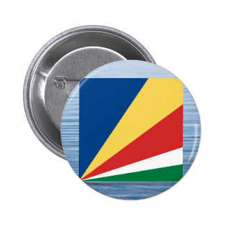 Seychellois Flag Floating on water 2 Inch Round Button