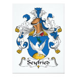 Seyfried Family Crest Personalized Invites
