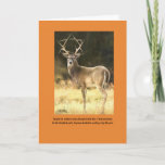 """Seymour goes stag holiday card<br><div class=""""desc"""">Stag with antlers like Star of David</div>"""