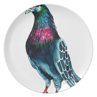 Seymour la paloma platos de comidas