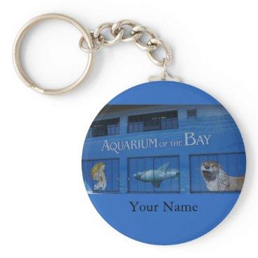 Beach Themed SF Aquarium of the Bay Keychain