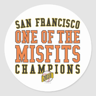 SF Baseball 'One of the Misfits' 2010 Champions Classic Round Sticker