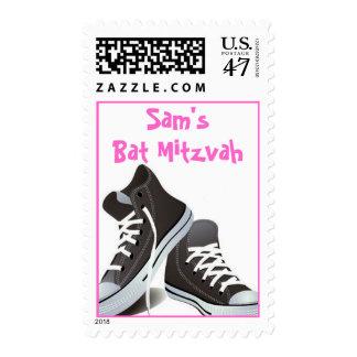 SF Bat Mitzvah Dark Grey Postage