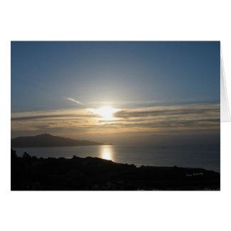 SF Bay Sunrise Greeting Card