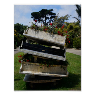 SF Botanical Garden Flower Piano Poster