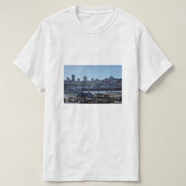 everydaylifesf SF City Skyline & Pier 39 Sea Lions T-shirt