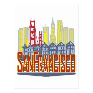 SF Golden Skyline Postcard