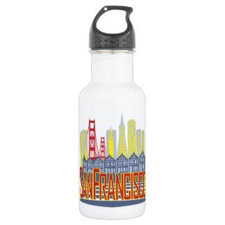 SF Golden Skyline Stainless Steel Water Bottle