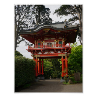 SF Japanese Tea Garden Temple Gate #2 Poster