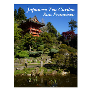 SF Japanese Tea Garden Temple Gate Postcard