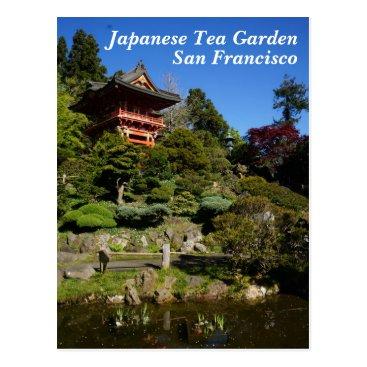 Beach Themed SF Japanese Tea Garden Temple Gate Postcard