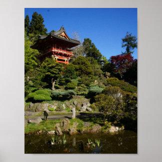 SF Japanese Tea Garden Temple Gate Poster