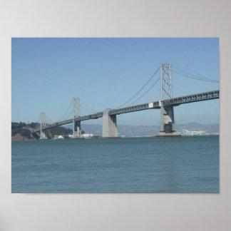 SF Oakland Bay Bridge Poster