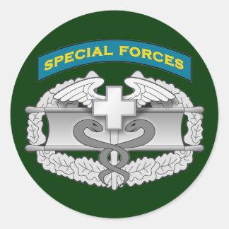 SF Q-tab and Combat Medic badge Classic Round Sticker