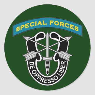 SF Q-tab and DUI - de oppresso liber Round Stickers