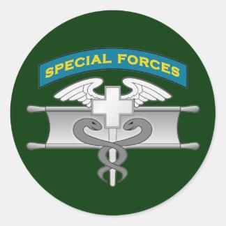 SF Q-tab and Expert Medic badge - EIB Classic Round Sticker