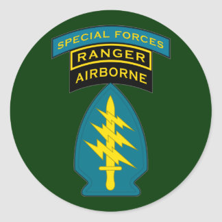 SF Q-tab, SSI and Ranger tab Classic Round Sticker