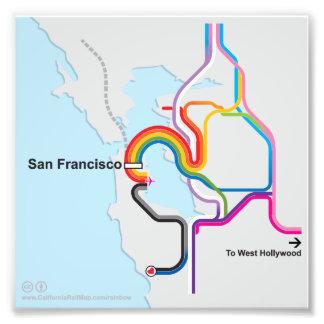 SF Rainbow Map Photo Print