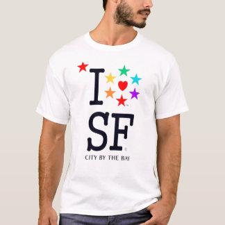 SF San Francisco California City By The Bay Pride T-Shirt