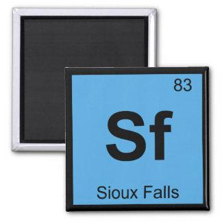 Sf - Sioux Falls South Dakota Chemistry Symbol Refrigerator Magnet