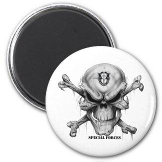 SF Skull 2 Inch Round Magnet