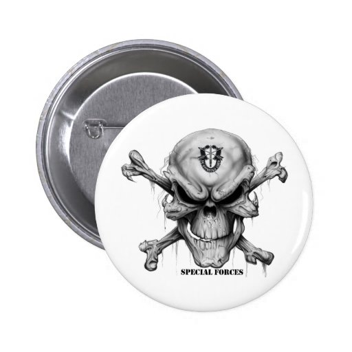SF Skull Pinback Buttons