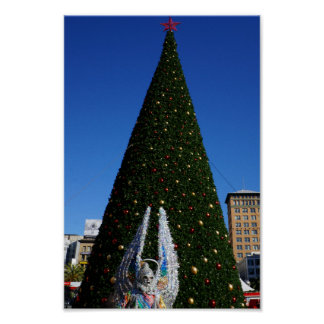 SF Union Square Christmas Tree Poster