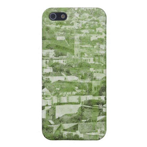 Sf Vintage Village green iPhone 5/5S Covers