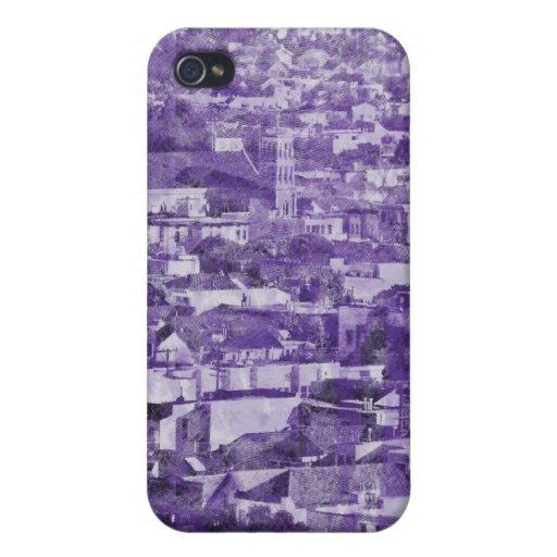 Sf Vintage Village purple iPhone 4/4S Cases