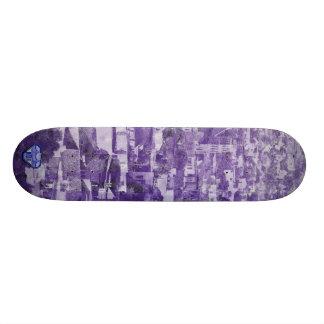 Sf Vintage Village purple Skate Board Deck