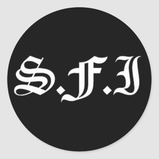 SFI Black Sticker