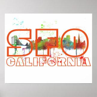 SFO CALIFORNIA - Poster