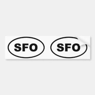 SFO San Francisco oval Bumper Sticker