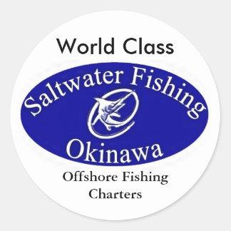 sfologolargewhite, cartas de la pesca en alta mar, pegatina redonda