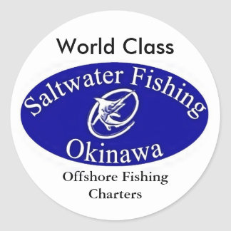 sfologolargewhite, Offshore Fishing Charters, W... Classic Round Sticker