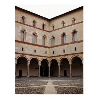 Sforza Castle (Castello Sforzesco) in Milan, Italy Postcard