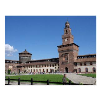 Sforza Castle - Milano, Italia - Postcard