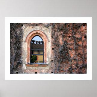 Sforza Castle Window Poster