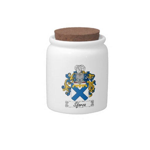 Sforza Family Crest Candy Jars