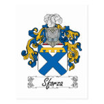 Sforza Family Crest Postcard