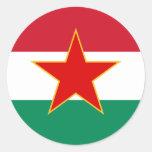 Sfr Yugoslav Hungarian Minority, ethnic flag Round Stickers