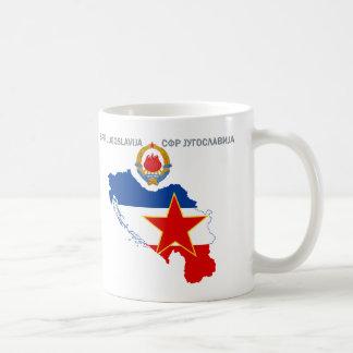SFR Yugoslavia - Map - Emblem - Flag Mug. Coffee Mug